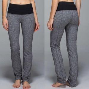 Lululemon Heathered Grey Straight Leg Yoga Pant 4
